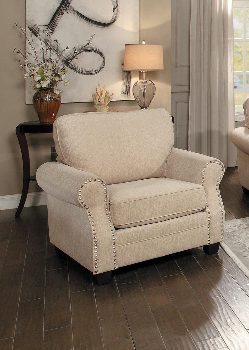 Homelegance Bechette Chair - Natural Tone Fabric