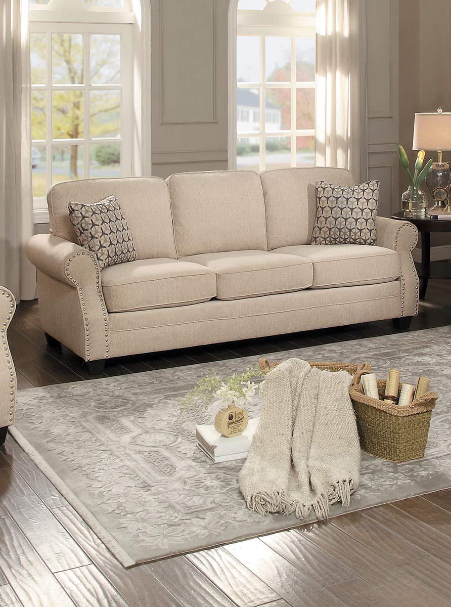 Homelegance Bechette Sofa - Natural Tone Fabric