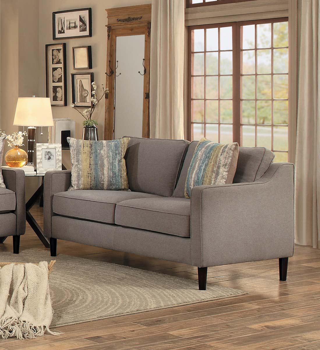 Homelegance Lotte Love Seat - Brown Fabric