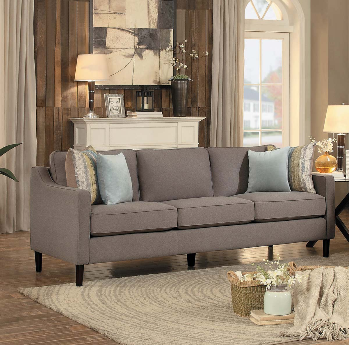 Homelegance Lotte Sofa - Brown Fabric
