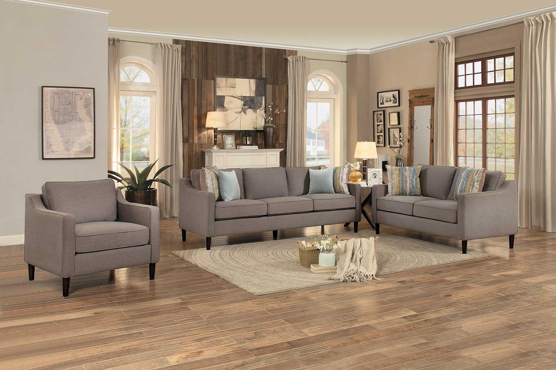 Homelegance Lotte Sofa Set - Brown Fabric