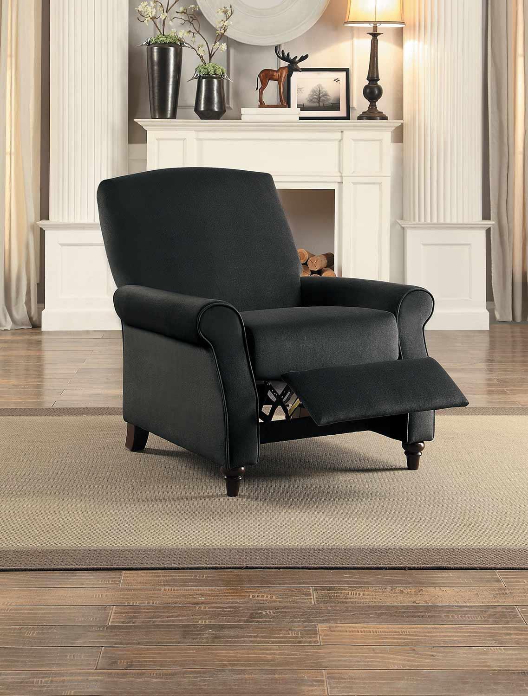 Homelegance Warrick Push Back Reclining Chair - Gray Fabric