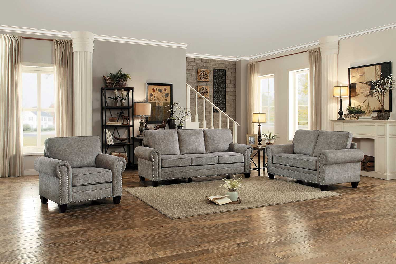 Homelegance Cornelia Sofa Set - Sand Fabric