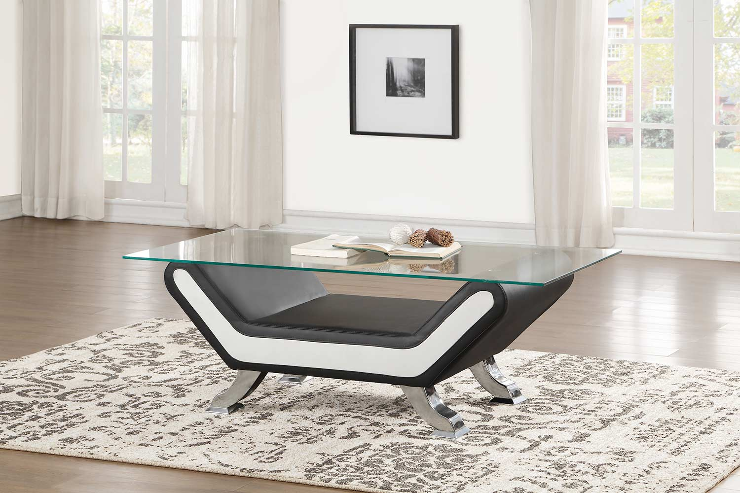Homelegance Veloce Coffee/Cocktail Table with Glass Top