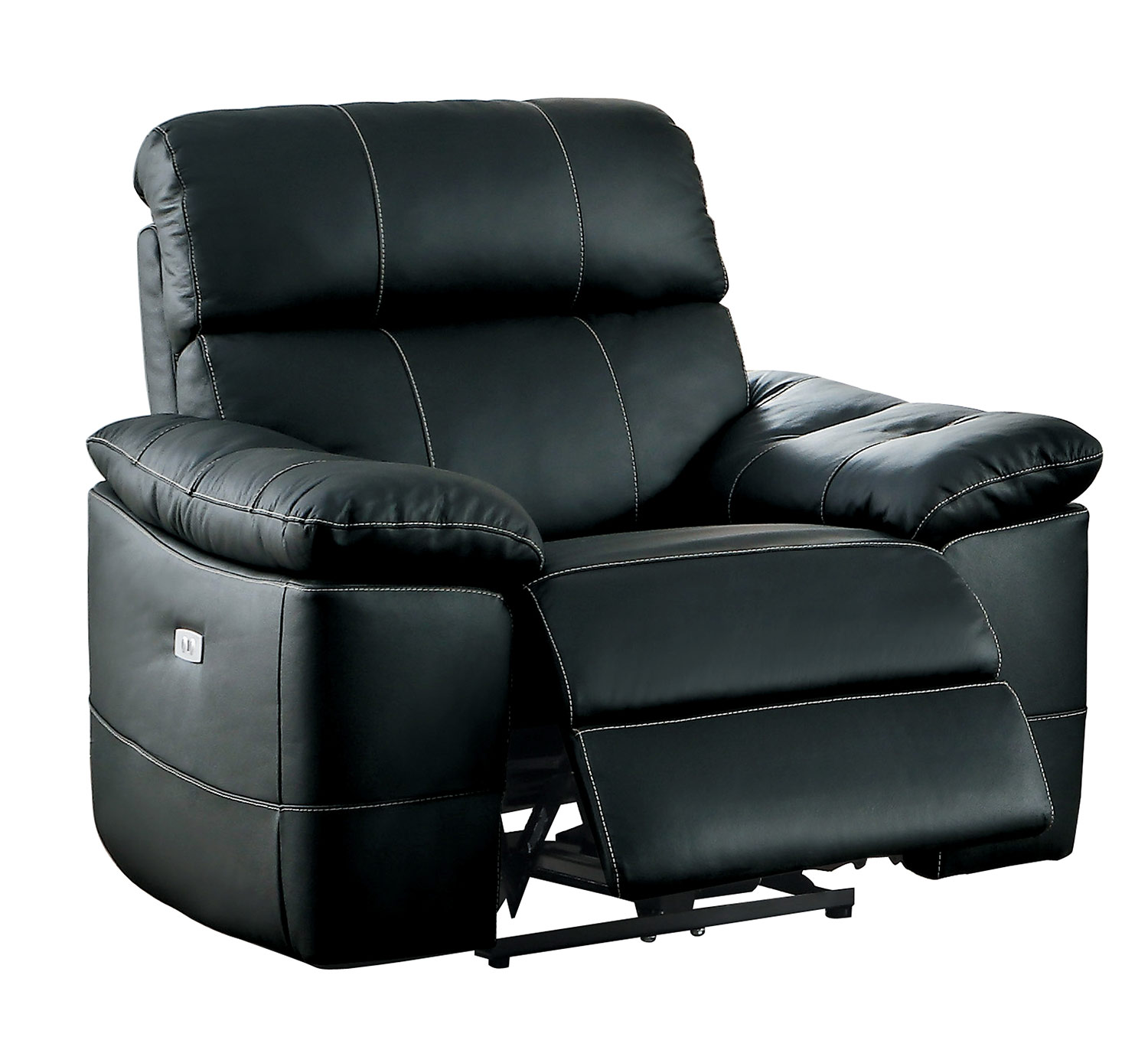 Homelegance Nicasio Power Reclining Chair - Black Leather