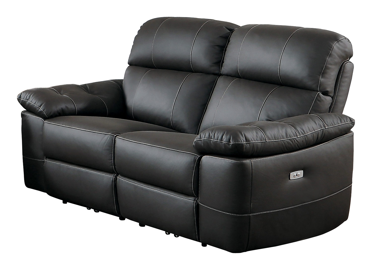 Homelegance Nicasio Power Double Reclining Love Seat - Dark Brown Leather