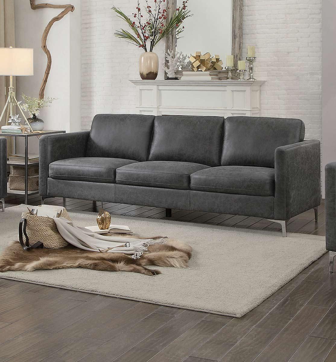 Homelegance Breaux Sofa - Gray Fabric