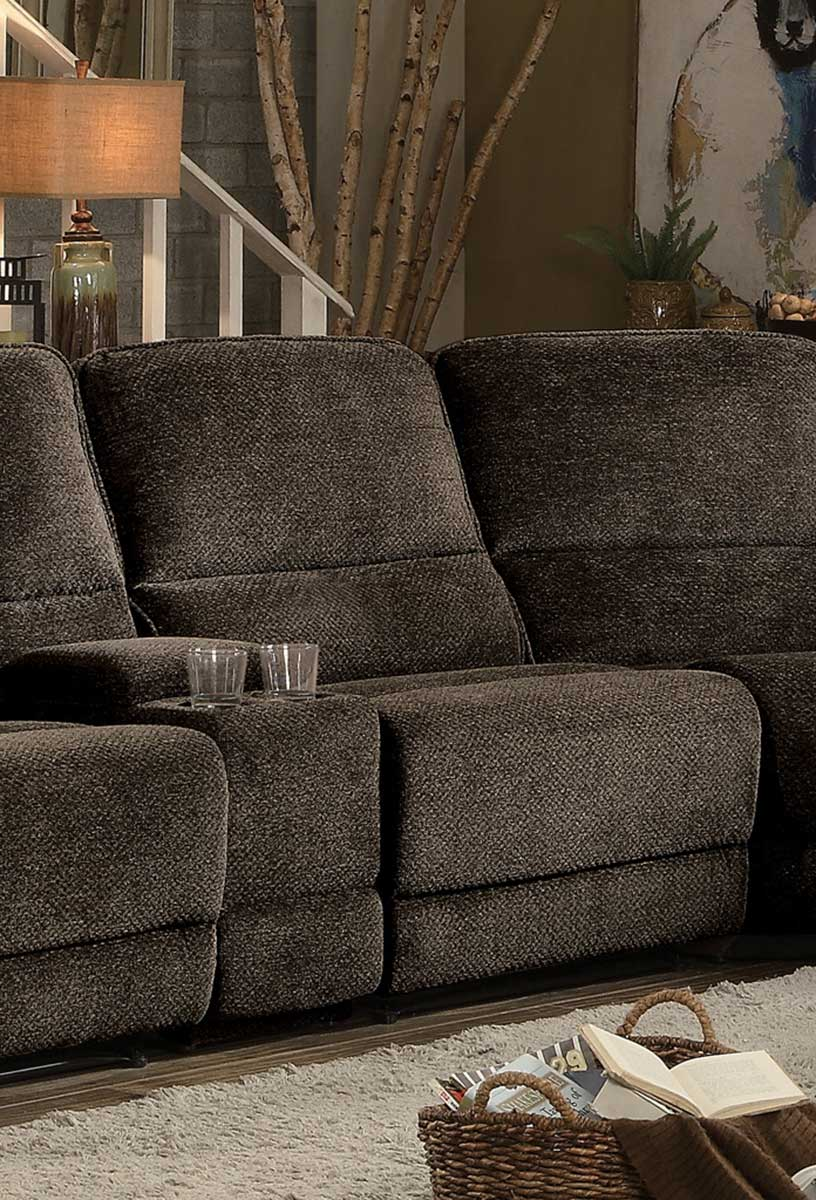 Shreveport Armless Reclining Chair   Brown Fabric