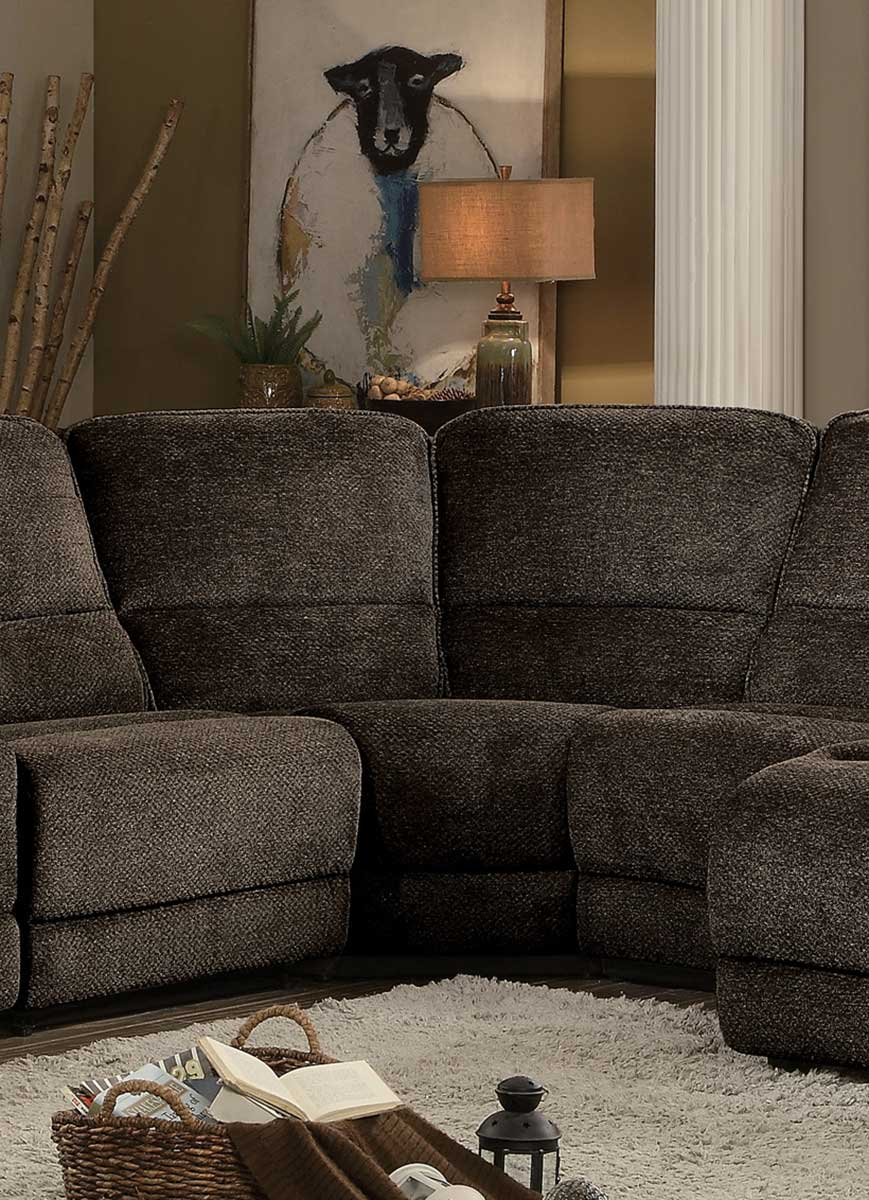 Homelegance Shreveport Corner Wedge - Brown Fabric