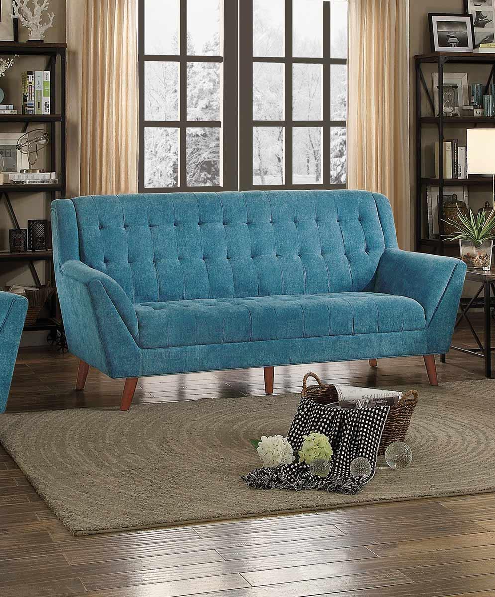 Homelegance Erath Sofa - Blue Fabric
