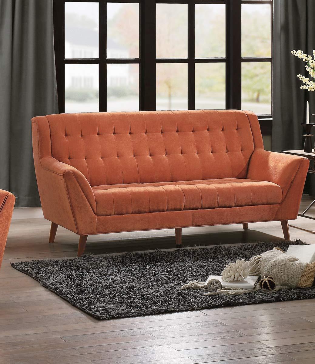 Homelegance Erath Sofa - Orange Fabric