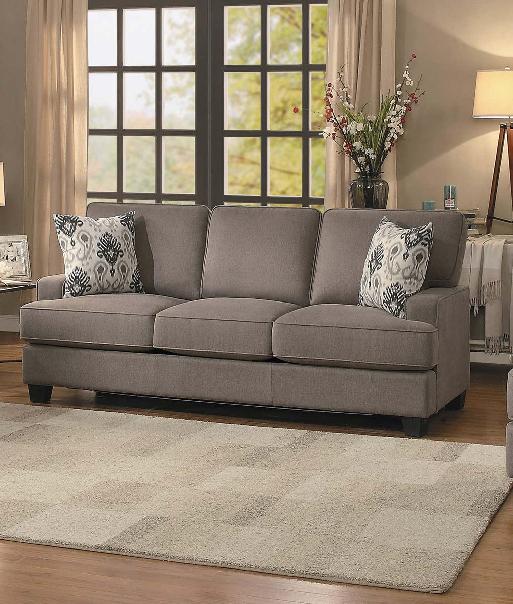 Homelegance Kenner Sofa - Brown Fabric