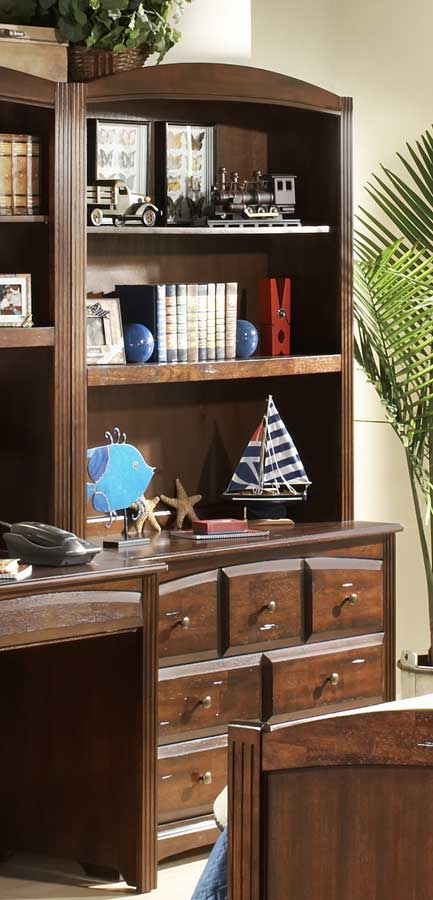 Homelegance Truckee Low Chest Hutch-Cherry