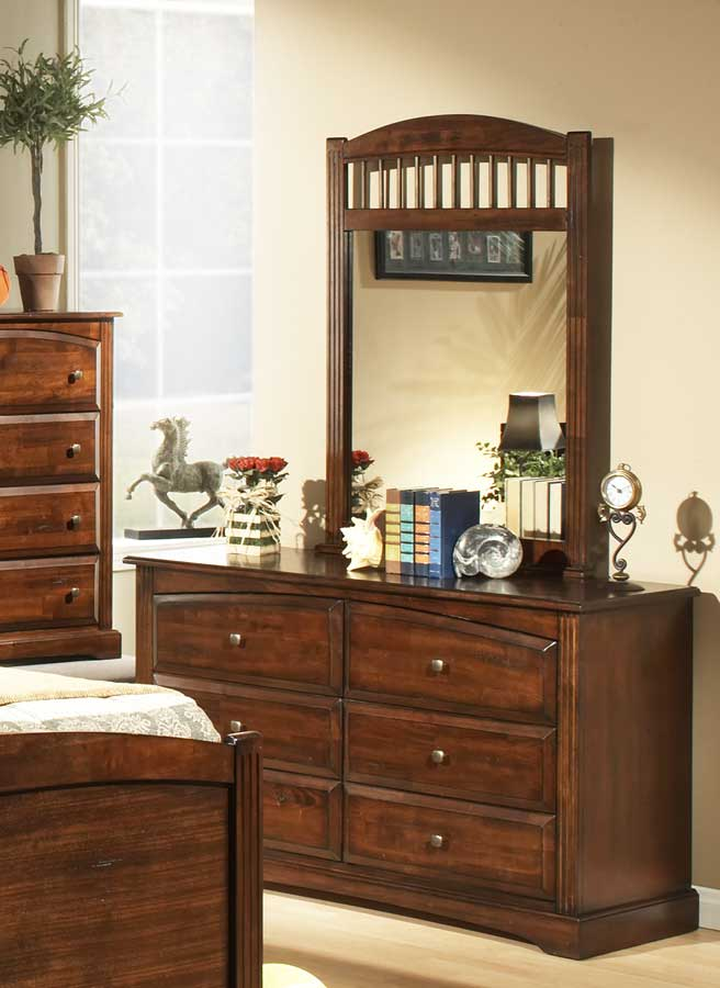 Homelegance Truckee Mirror-Cherry