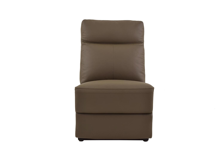 Homelegance Olympia Armless Chair - Raisin Top Grain Leather Match