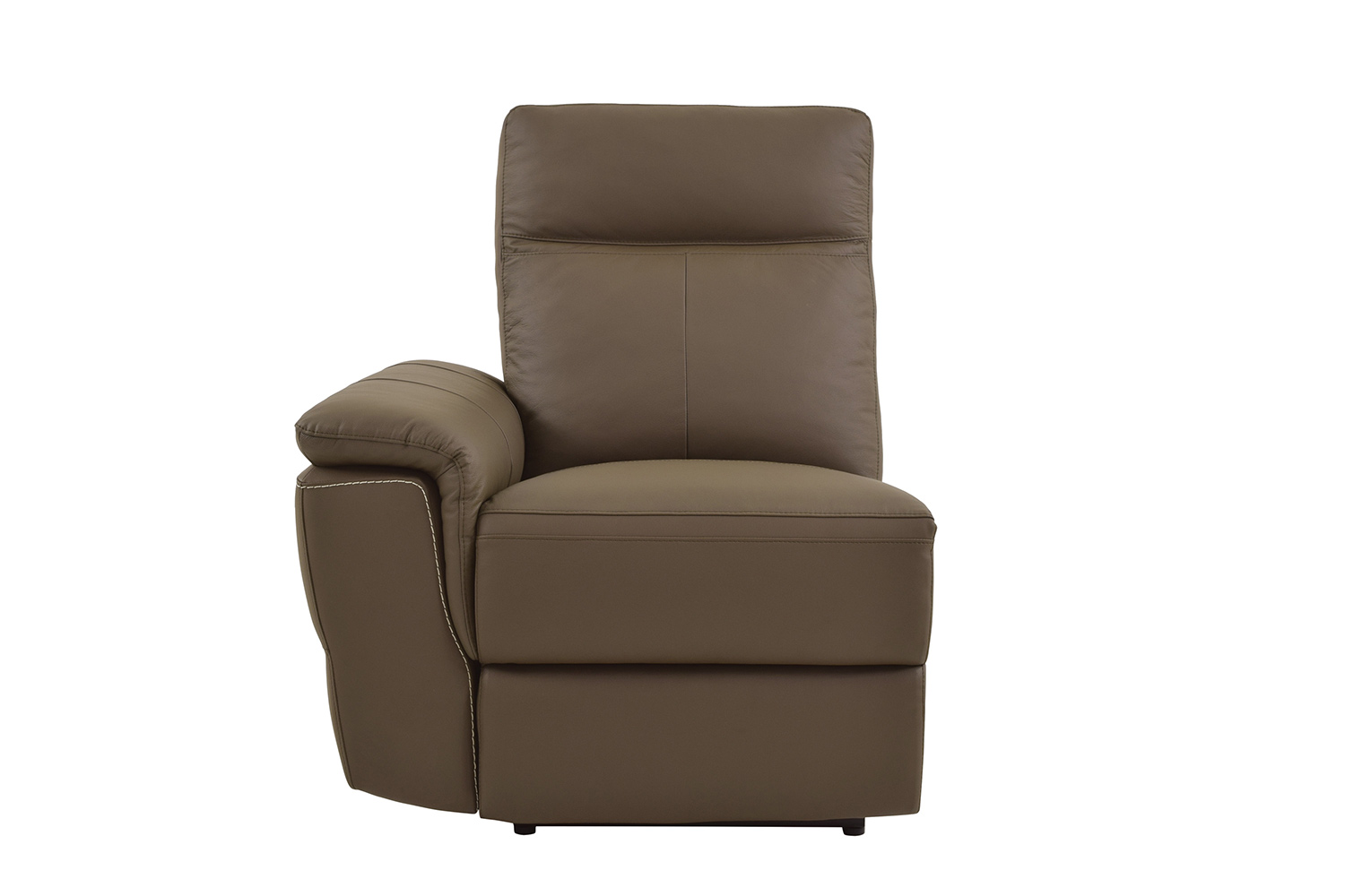 Homelegance Olympia Power Left Side Facing Reclining Chair - Raisin Top Grain Leather Match