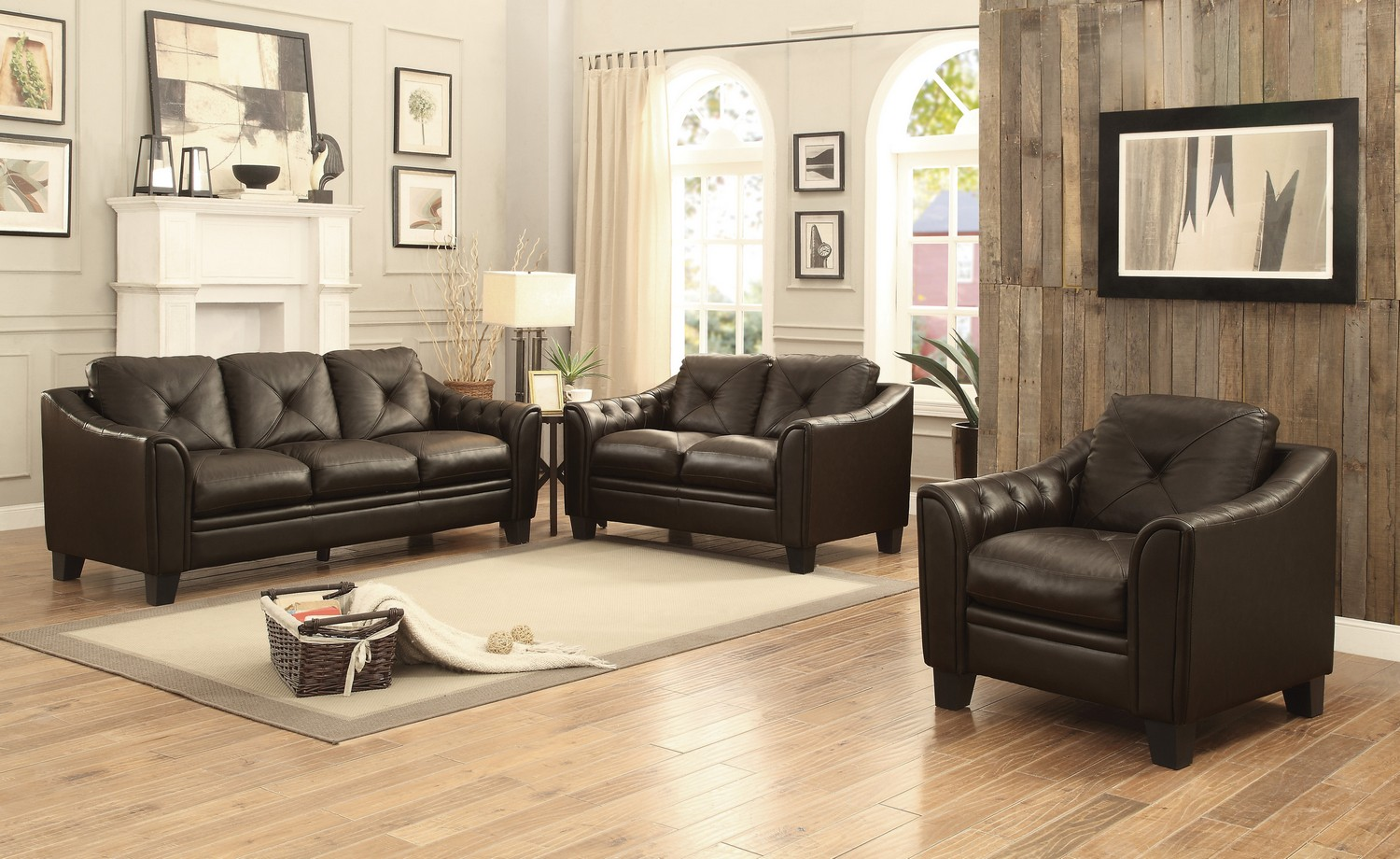 Homelegance memphis sofa set top grain leather match for Sofa sectionnel maison corbeil