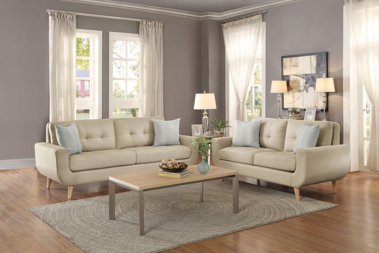 Homelegance Deryn Sofa Set - Polyester - Beige
