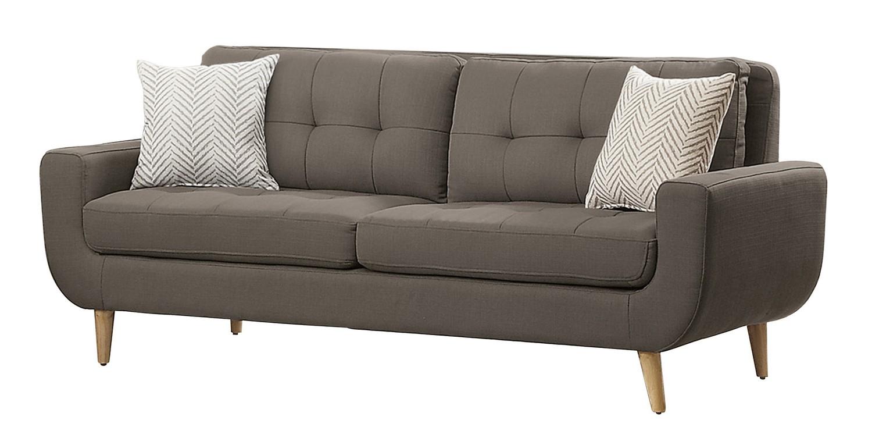 Homelegance Deryn Sofa - Polyester - Grey