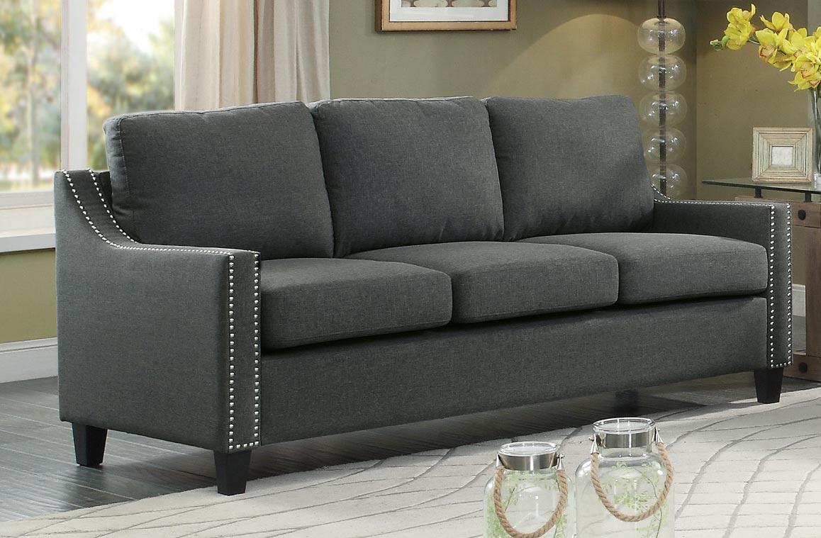 Homelegance Pagosa Sofa - Polyester - Dark Grey