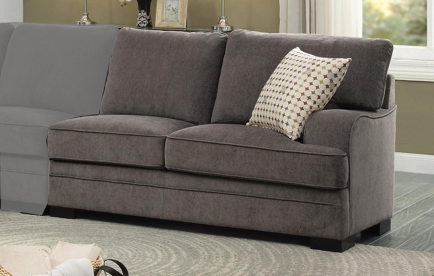 Homelegance Alamosa Right Side 2-Seater - Chenille - Brown