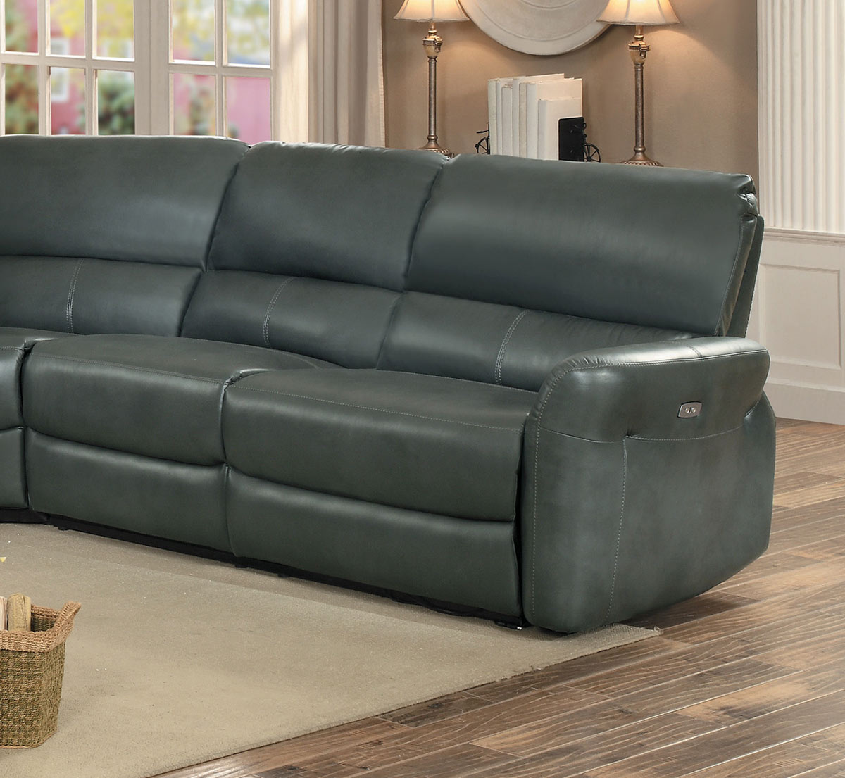 Homelegance Kismet Power Right Side Facing Reclining Love Seat - Gray AireHyde Match