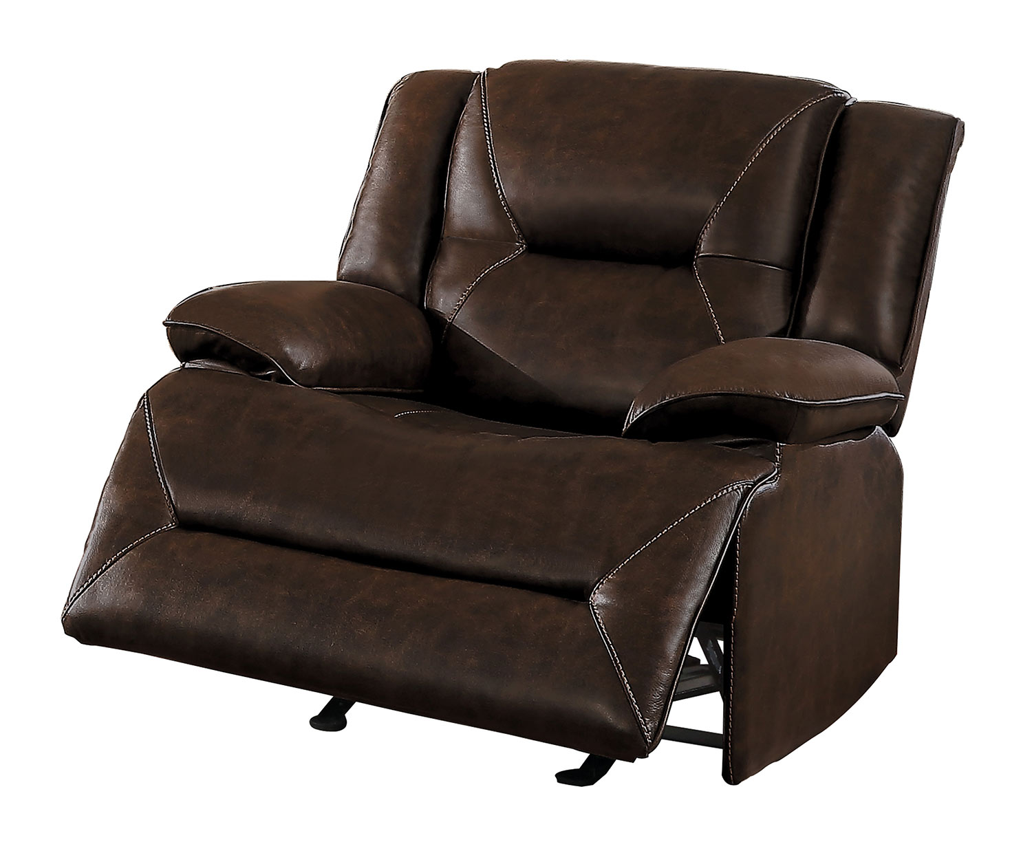 Homelegance Okello Glider Reclining Chair - Brown AireHyde Match