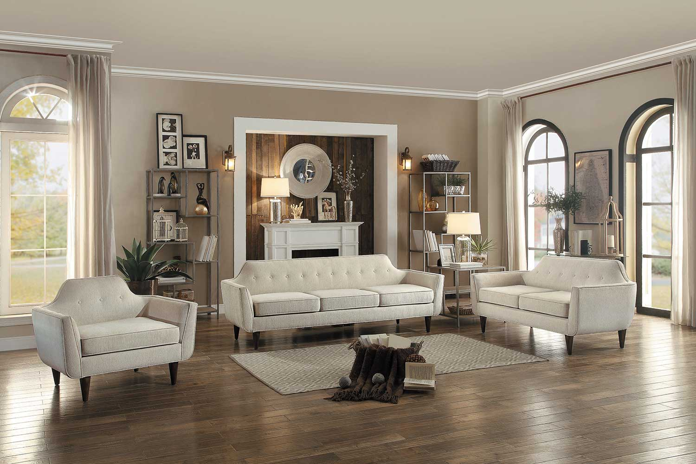 Homelegance Ajani Sofa Set - Beige Fabric