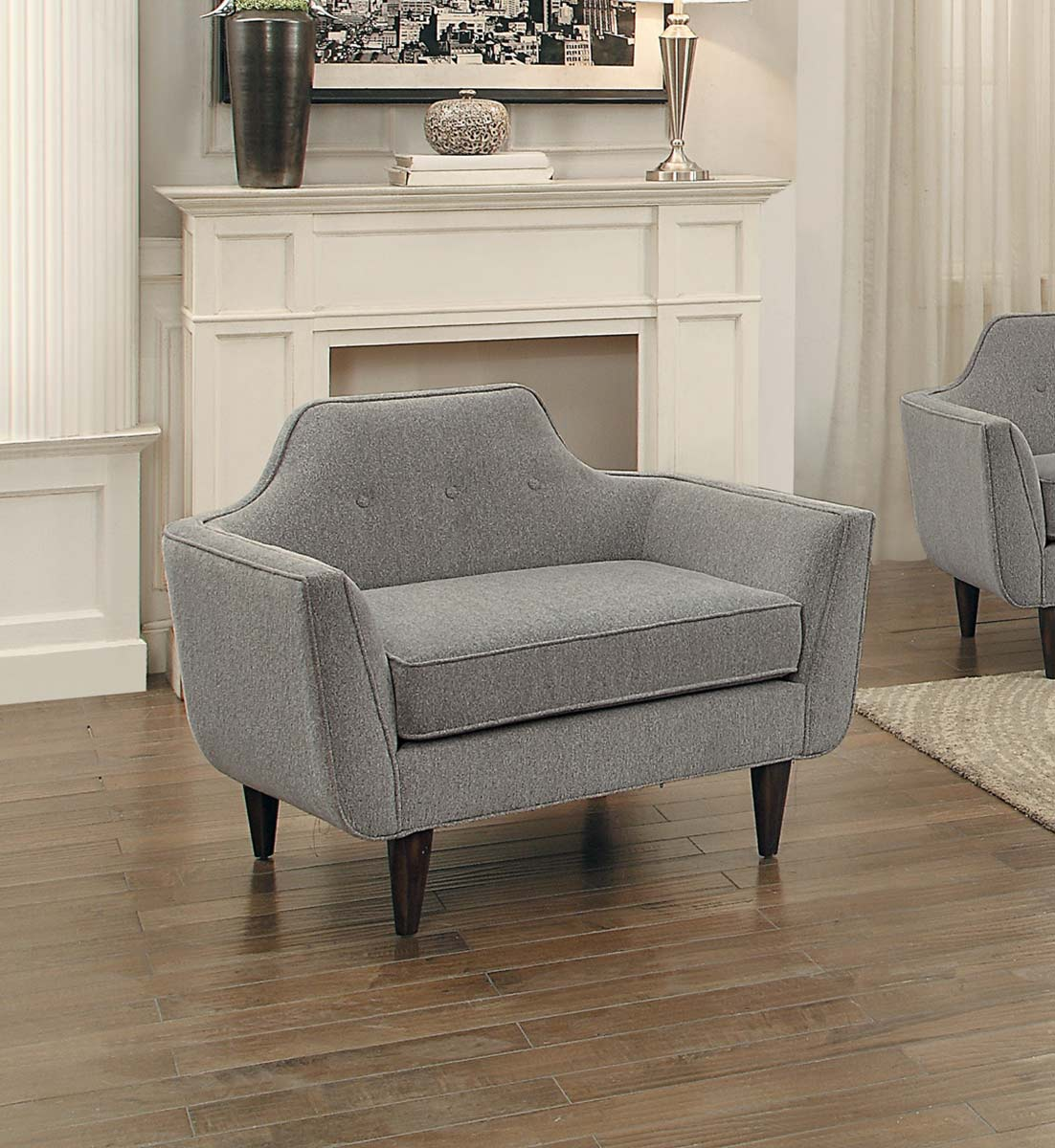 Homelegance Ajani Chair - Gray Fabric