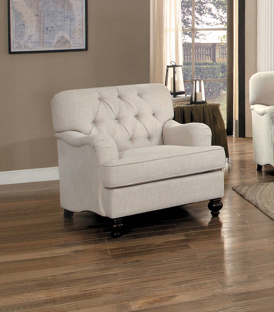 Homelegance Clemencia Chair - Natural Tone Fabric