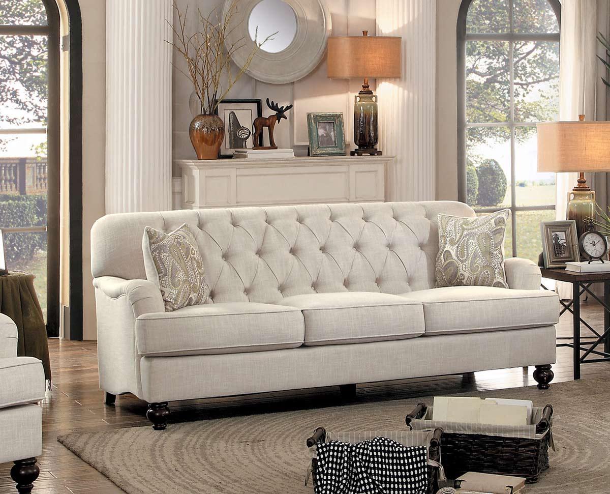 Homelegance Clemencia Sofa - Natural Tone Fabric