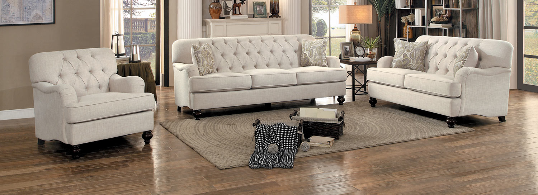 Homelegance Clemencia Sofa Set - Natural Tone Fabric