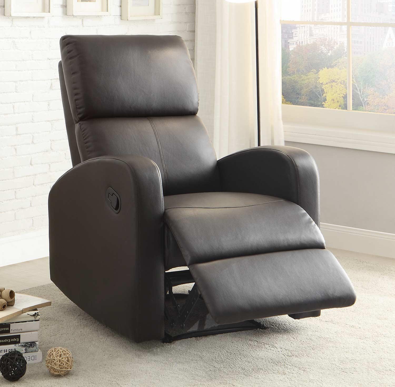 Homelegance Mendon Reclining Chair - Dark Brown