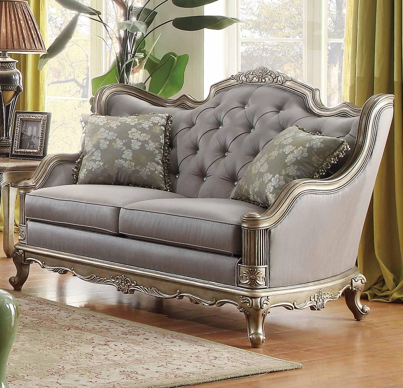 Homelegance Fiorella Love Seat - Dusky Taupe