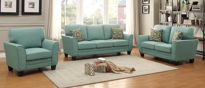 Homelegance Adair Sofa Set - Teal