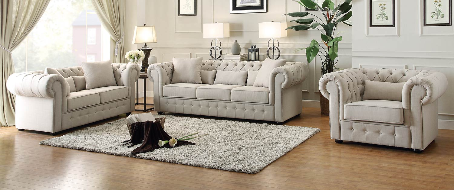 Homelegance Savonburg Sofa Set - Neutral