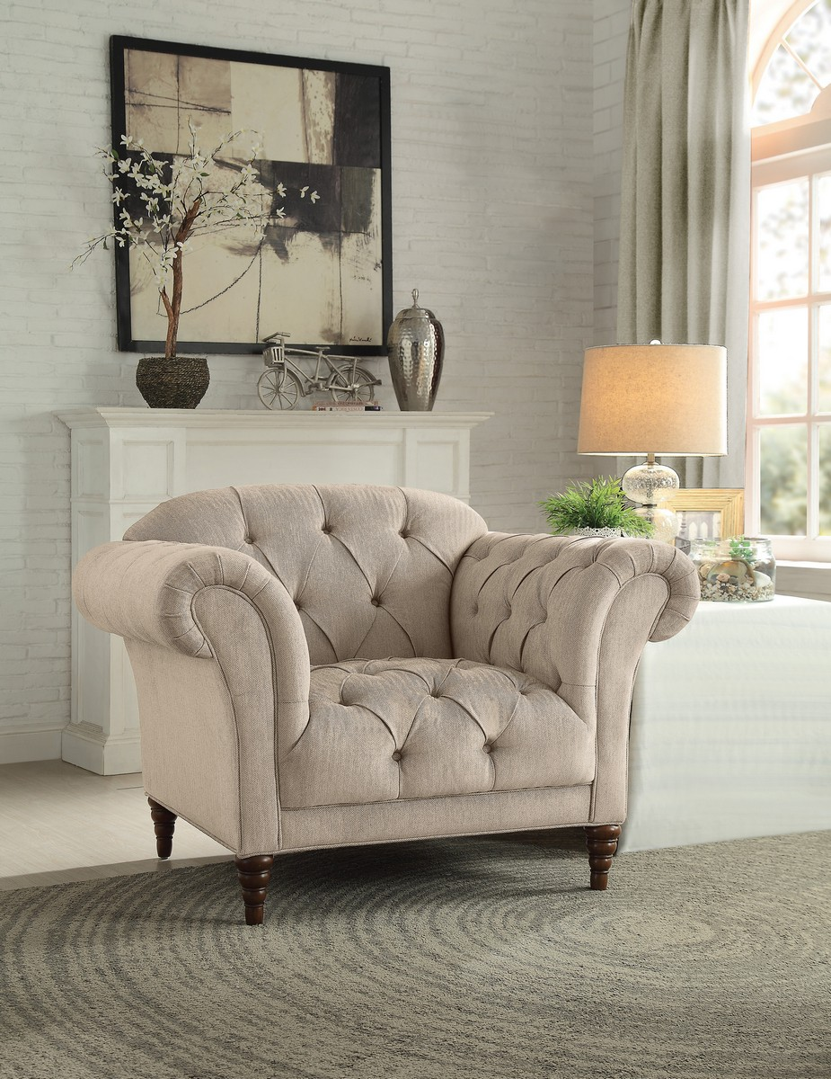 Homelegance St. Claire Chair - Polyester - Brown Tone