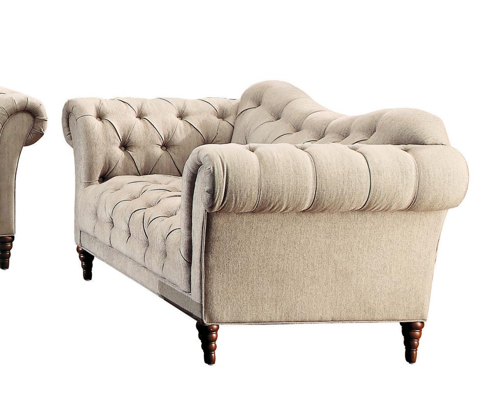 Homelegance St. Claire Love Seat - Polyester - Brown Tone