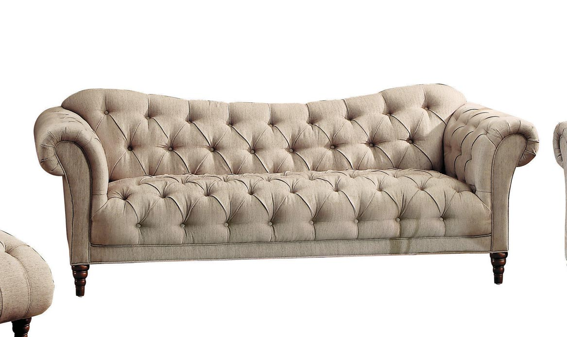 Homelegance St. Claire Sofa - Polyester - Brown Tone