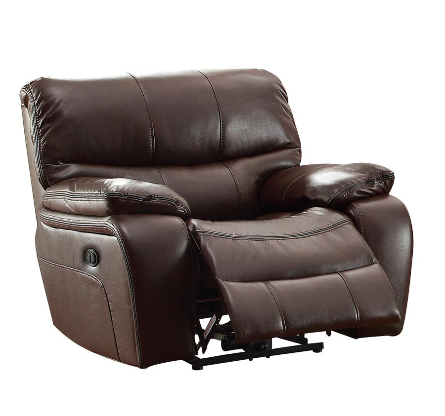 Homelegance Pecos Power Reclining Chair - Leather Gel Match - Dark Brown
