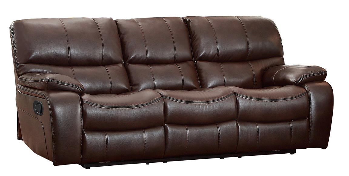 Homelegance Pecos Double Reclining Sofa - Leather Gel Match - Dark Brown