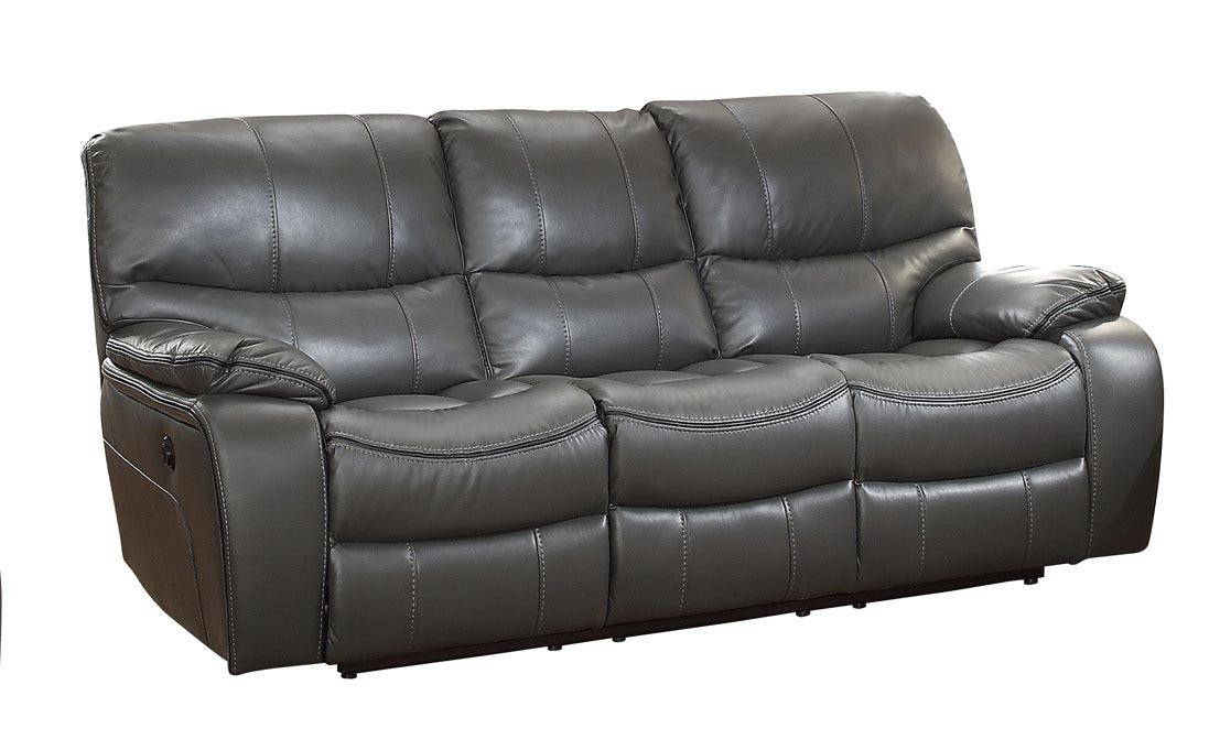 Homelegance Pecos Power Double Reclining Sofa - Leather Gel Match - Grey