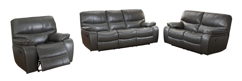 Homelegance Pecos Reclining Sofa Set - Leather Gel Match - Grey