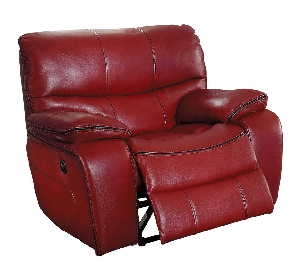 Homelegance Pecos Power Reclining Chair - Leather Gel Match - Red