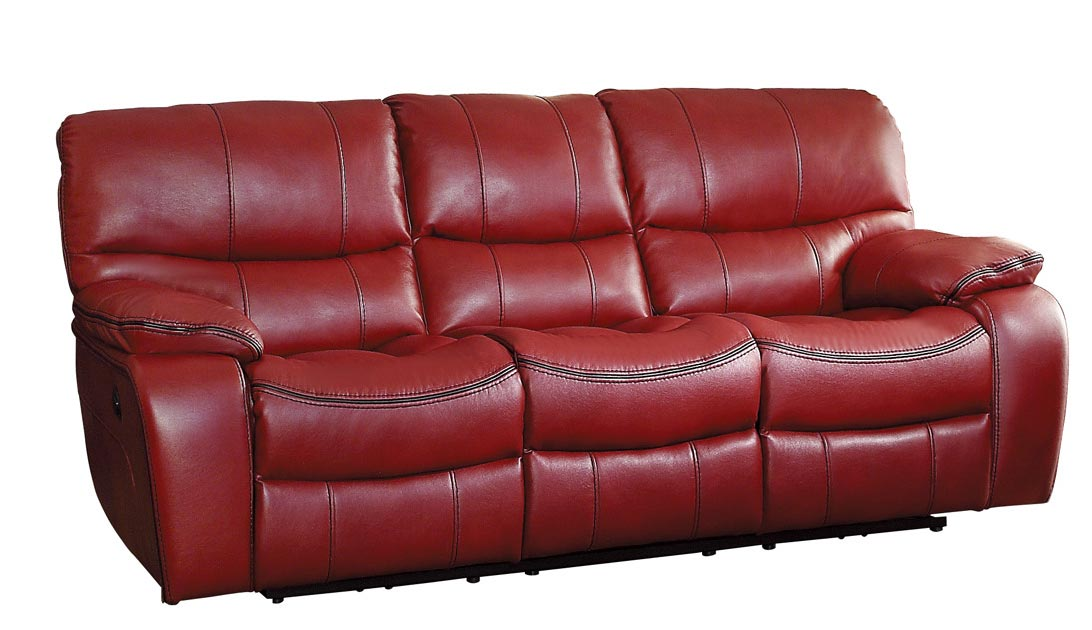Homelegance Pecos Power Double Reclining Sofa - Leather Gel Match - Red