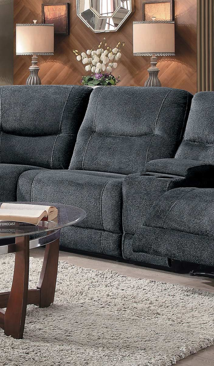 Homelegance Columbus Armless Chair - Cobblestone Fabric