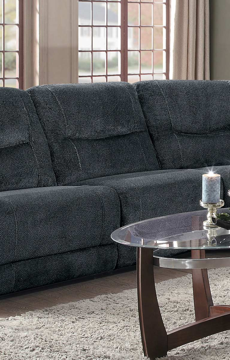 Homelegance Columbus Armless Reclining Chair - Cobblestone Fabric