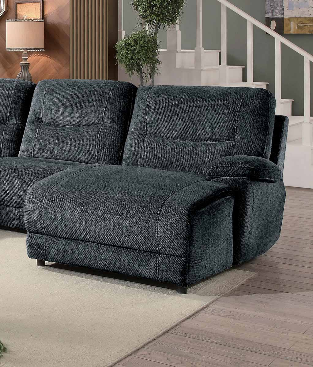 Homelegance Columbus Right Side Facing Reclining Chaise - Push Back - Cobblestone Fabric