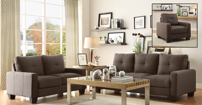 Homelegance Ramsey Sofa Set - Grey
