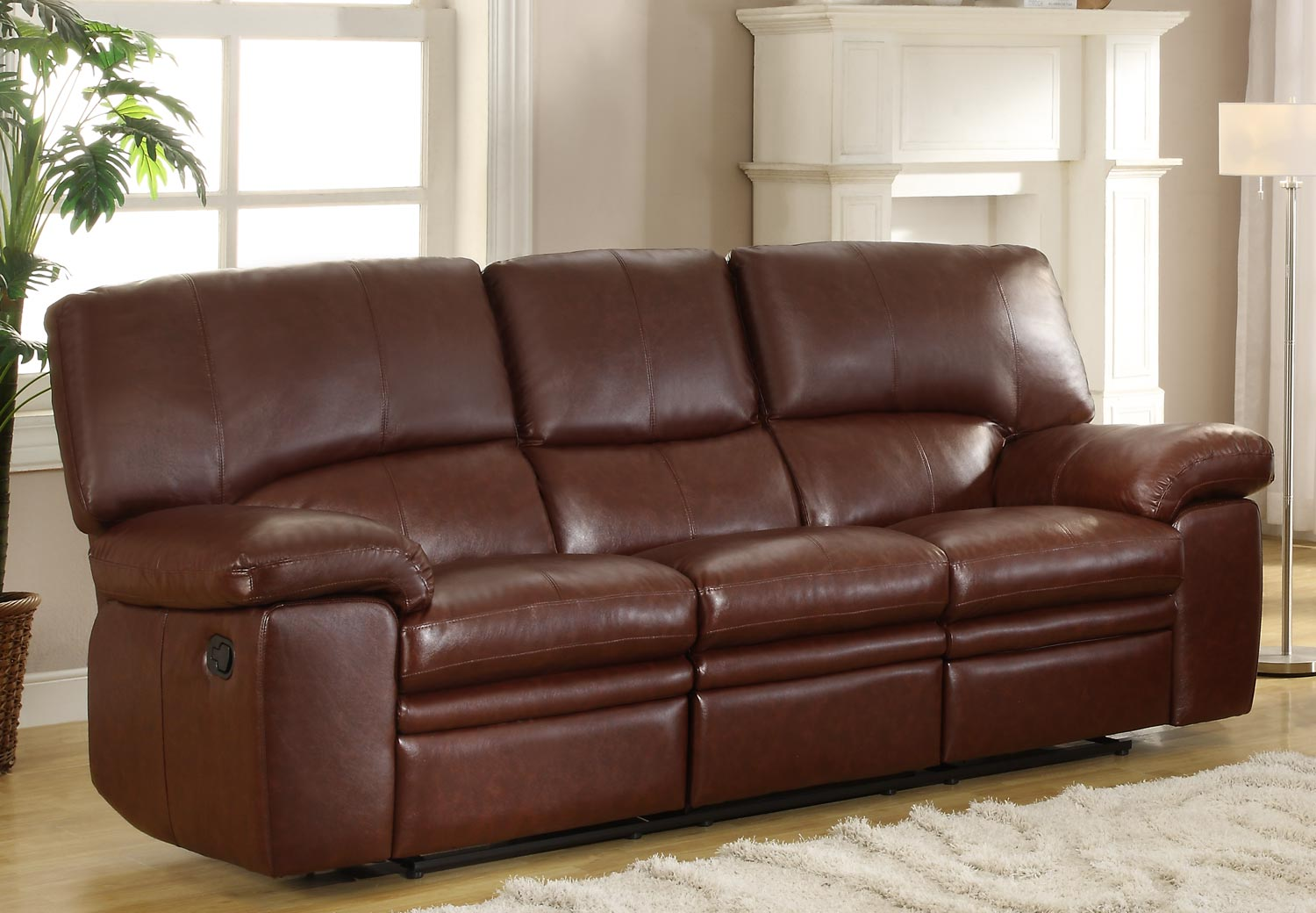 Homelegance Kendrick Double Recliner Sofa - Brown - Bonded Leather Match & Homelegance Kendrick Double Recliner Sofa - Brown - Bonded Leather ... islam-shia.org